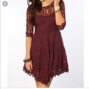 Free People Floral Lace Cocktail Dress